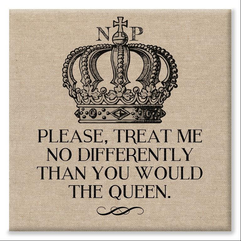 Queen funny personalised canvas print gift