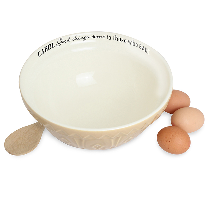 Personalised Good Things ceramic mixing bowl