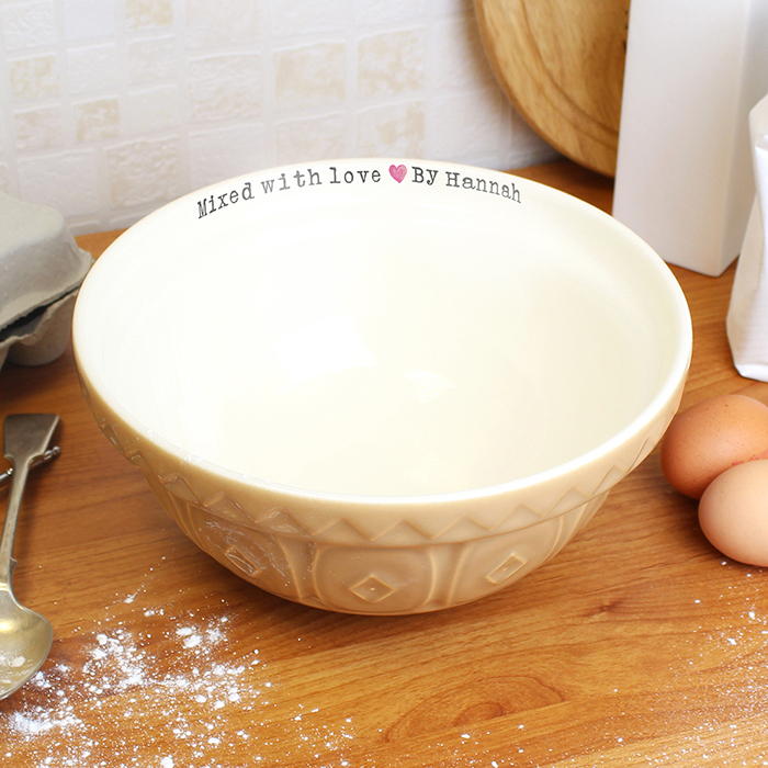 Personalised ceramic mixing bowl
