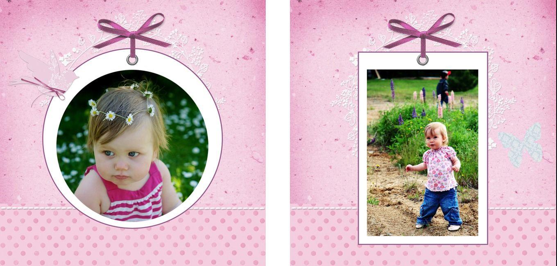 Personalised Photo Albums   Pink Bird design, handmade pocket sized keepsake photo album from PhotoFairytales