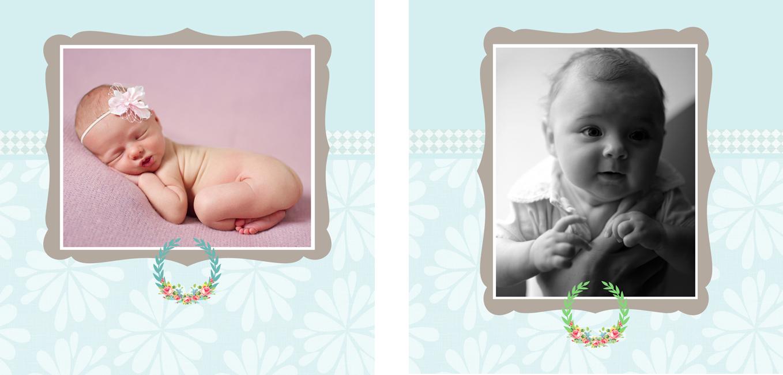 Personalised Photo Albums | Floral design, handmade pocket sized keepsake photo album from PhotoFairytales