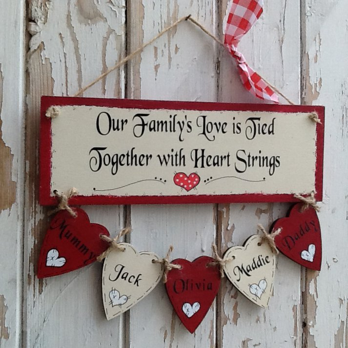 Personalised wooden Christmas plaque sign | handmade | hand painted | PhotoFairytales