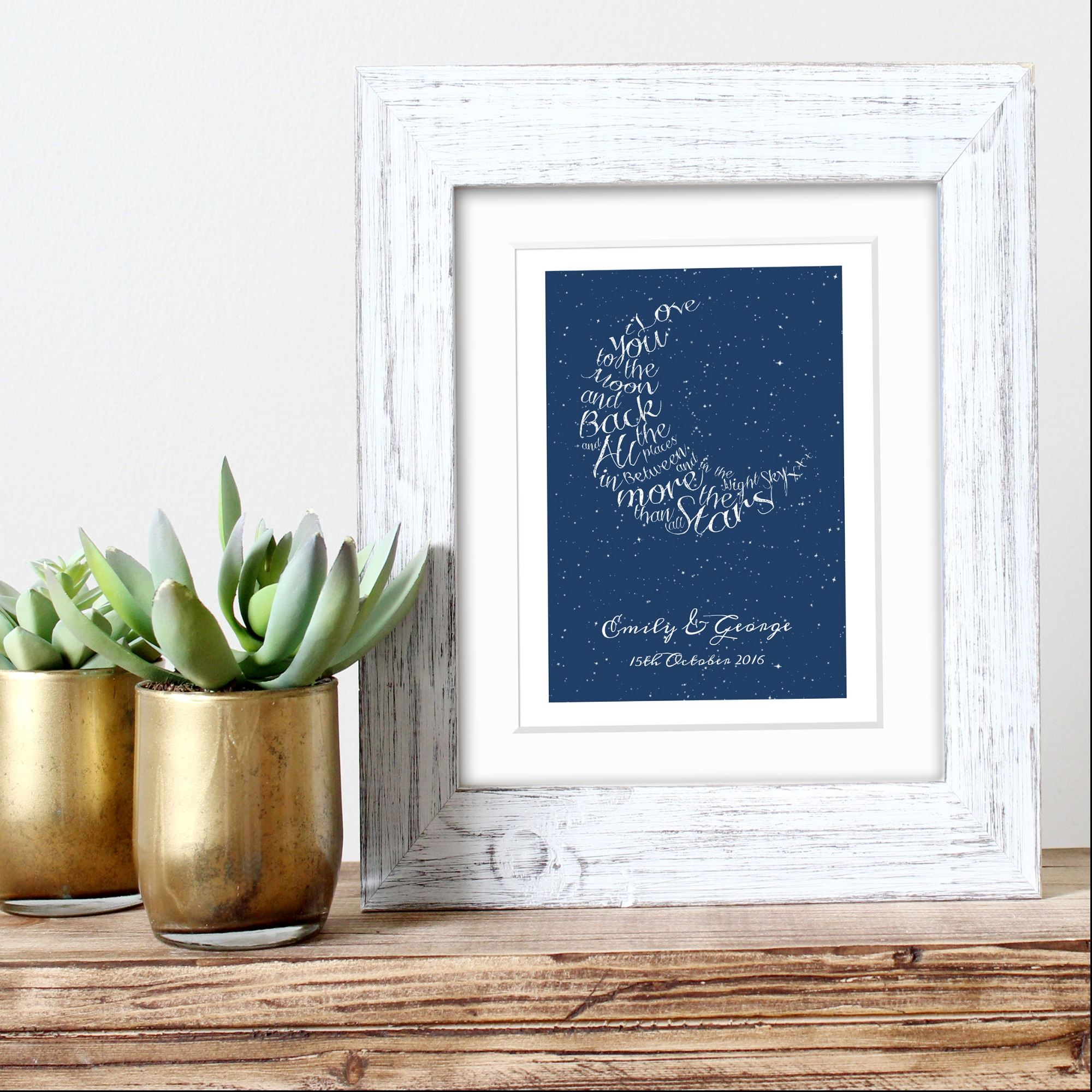 Written in the Stars personalised word art romantic gift