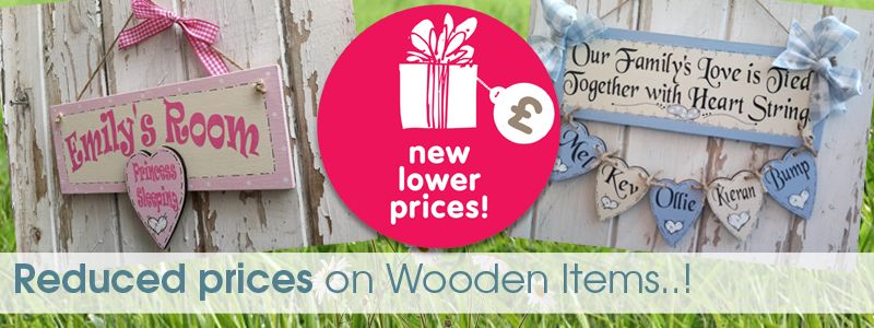 Reduced prices handmade wooden gifts