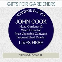 Gifts for gardeners personalised