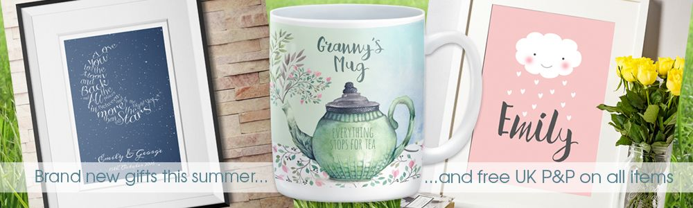 Summer 2016 new personalised gifts