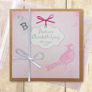 Pink Bird personalised photo album