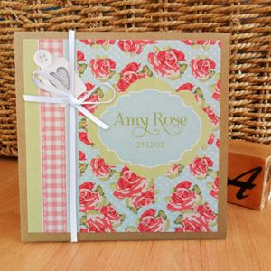 Old Rose personalised photo album