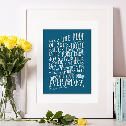 Personalised new home moving gift for family
