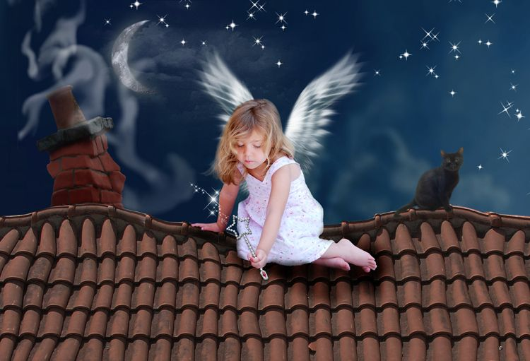 Wishing Sweet Dreams fantasy photo portrait