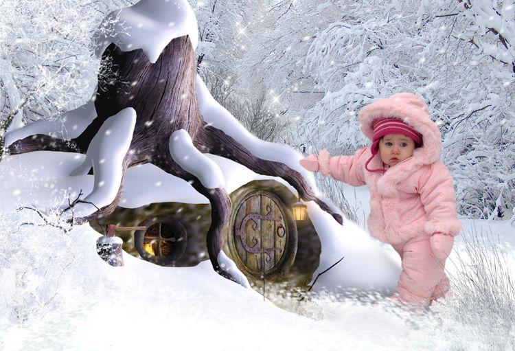 Winter Hideaway fantasy portrait