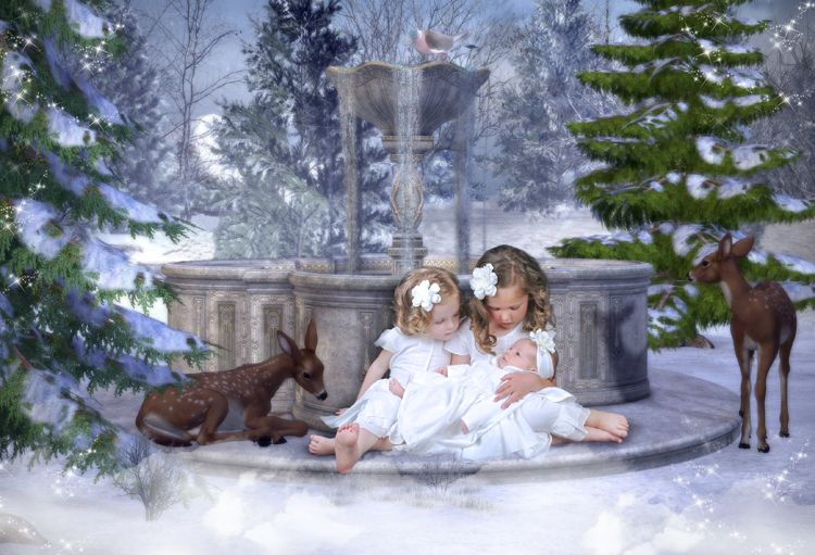 Make A Wish Christmas fantasy photo portrait