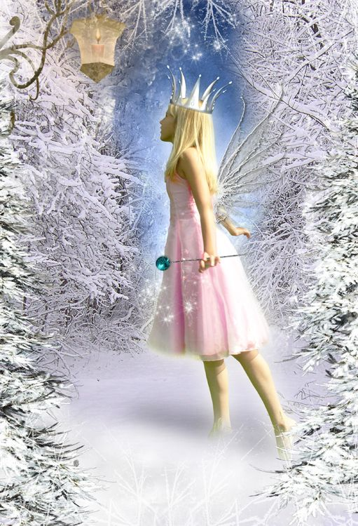Ice Fairy snow fantasy photo portrait