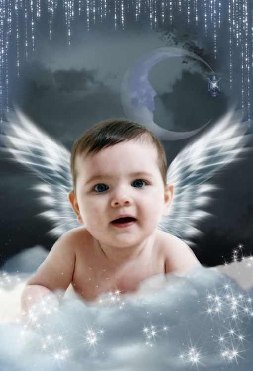 Angel Wings fantasy photo portrait