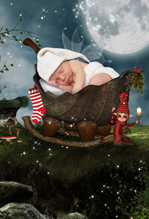 The Night Before Christmas fantasy photo portrait