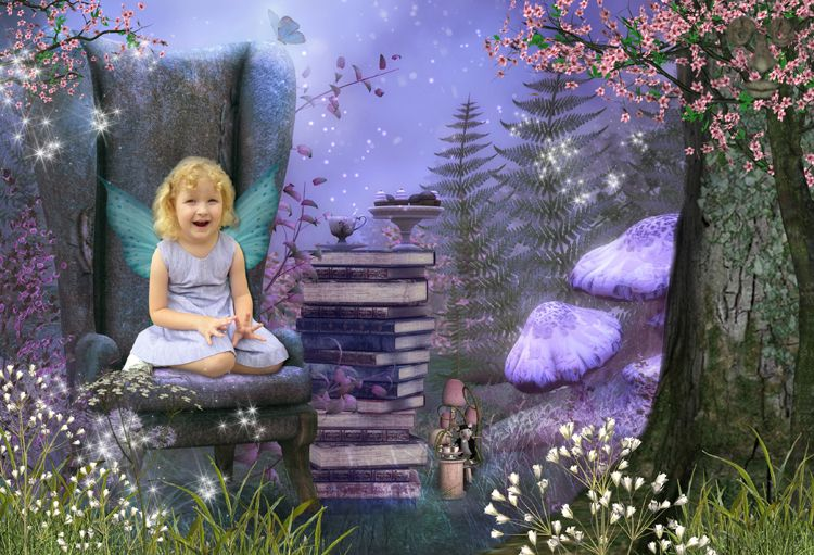 Magical Tea Party fantasy photo portrait