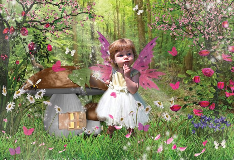 Toadstool Fairy fantasy photo portrait