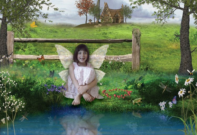 Enchanted Stream fantasy fairy photo portrait