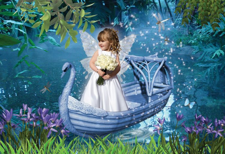 Swan Lake fantasy photo portrait