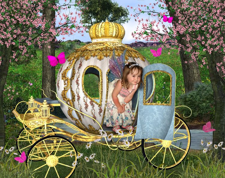 Fairy Carriage fantasy photo portrait