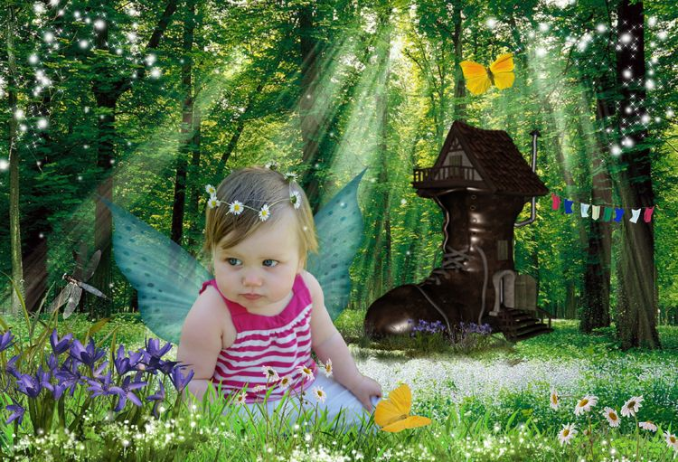 Fairytale Boot woman who lived in a shoe fairy tale fantasy photo portrait