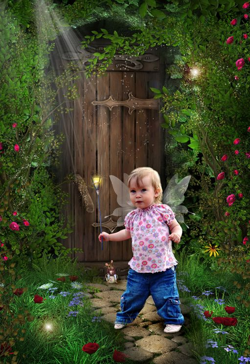Garden Sprite fantasy photo portrait