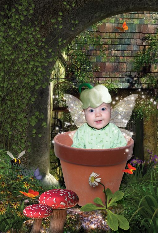 Flowerpot Fairy fantasy photo portrait