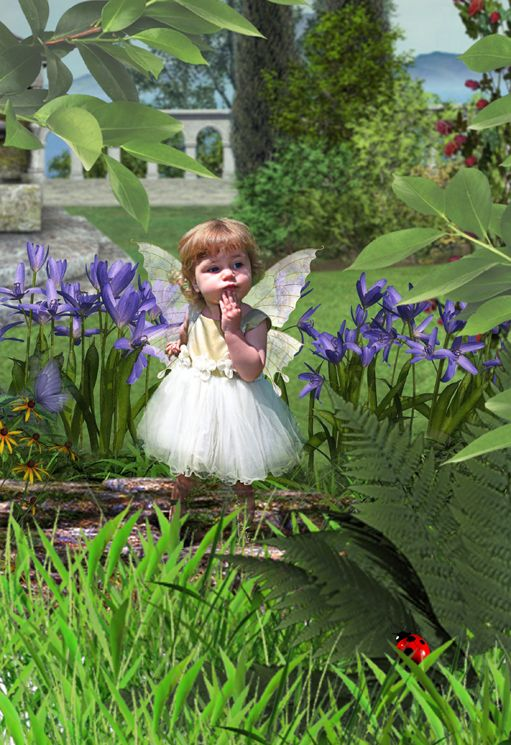 Fairy at the bottom of the Garden fantasy photo portrait