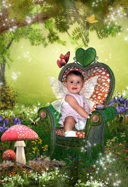 Toadstool Throne fantasy photo portrait