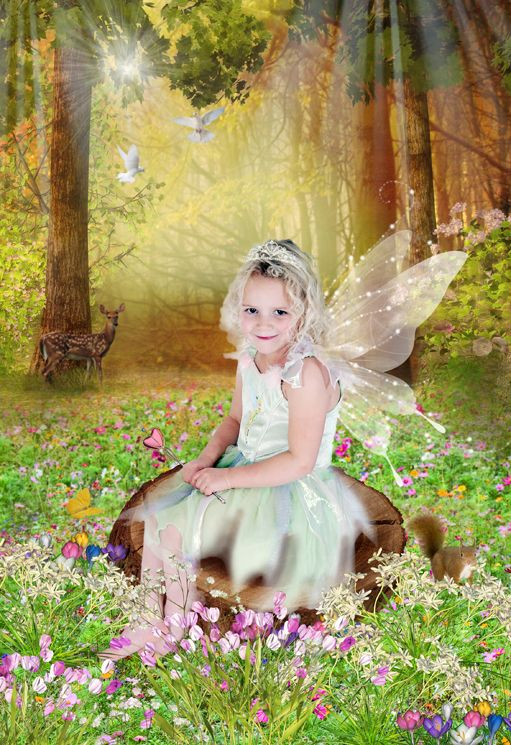 Woodland Clearing fantasy photo portrait