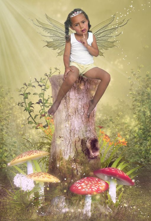 Woodland Faery fantasy photo portrait