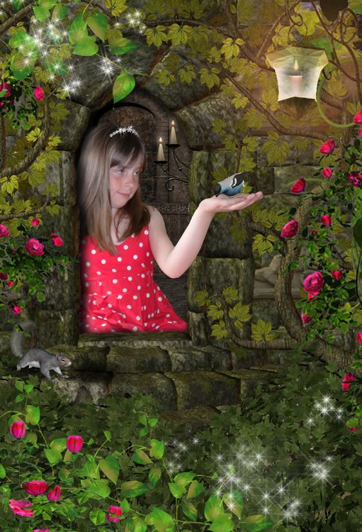 Princess in the Tower personalised fantasy fairytale photo gift