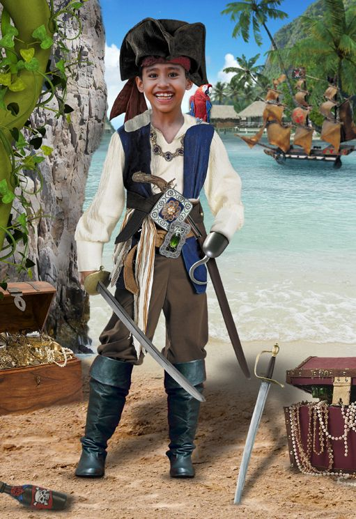 Treasure Island pirate fairy tale fantasy photo portrait