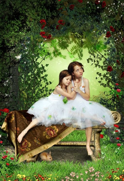 Babes in the Wood fairy tale fantasy photo portrait