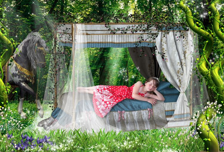 Sleeping Beauty fairy tale fantasy photo portrait