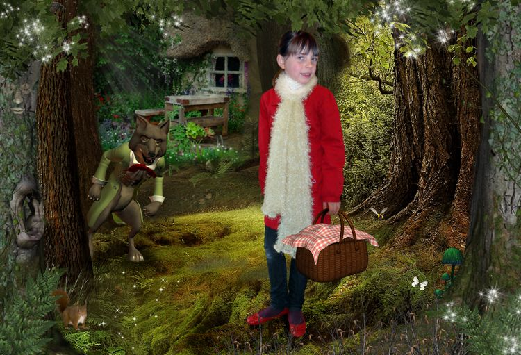 Little Red Riding Hood personalised fantasy photo