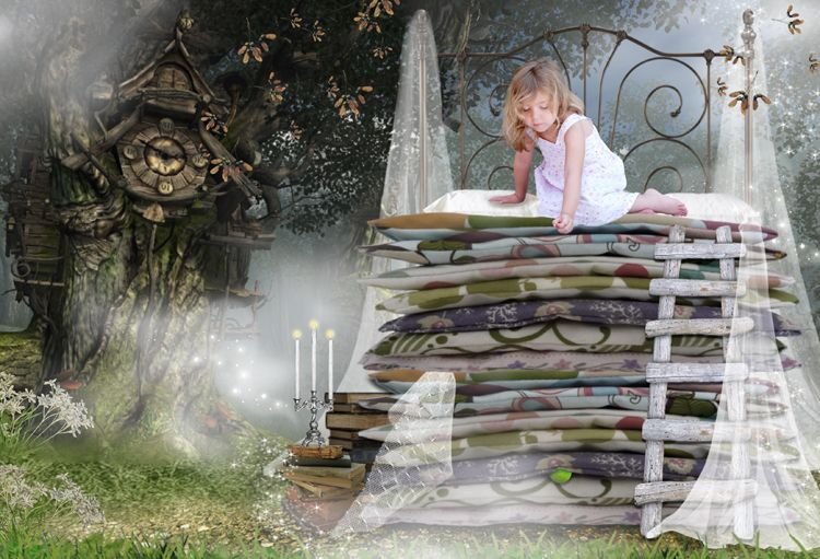 Princess and the Pea fairy tale fantasy photo portrait