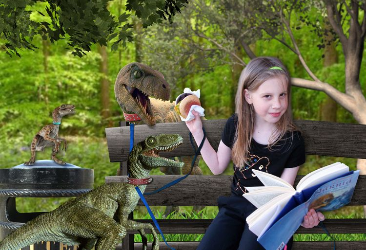 Dinner with my Pet Dinosaurs fantasy photo