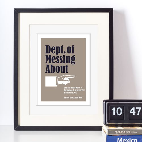 Ministry of Silly personalised prints fun office gift for him | PhotoFairytales