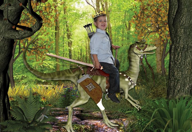 King of the Forest dinosaur personalised photo fantasy gift