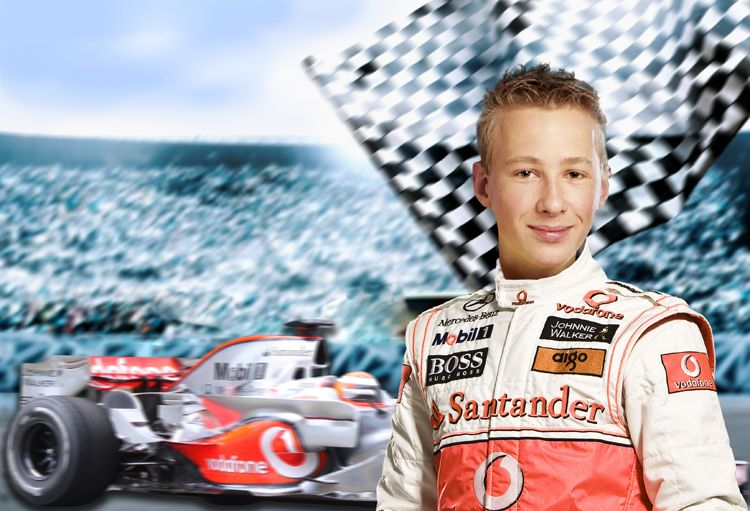 Racing Driver F1 fantasy photo portrait