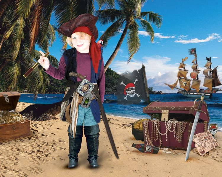 Pirate Treasure personalised fantasy photo