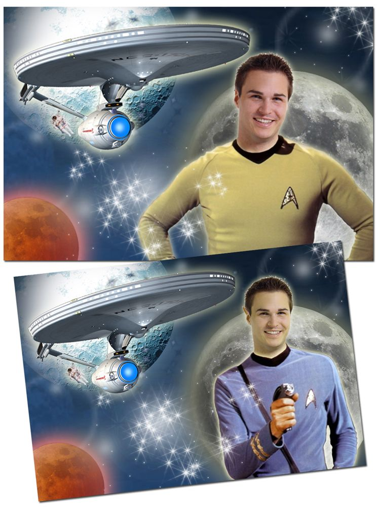 Star Trek personalised fantasy photo gift