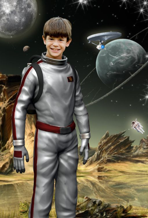 Spaceman fantasy photo portrait gift