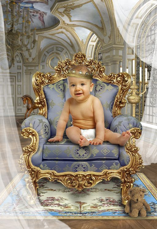 Royal Baby fantasy photo portrait gift