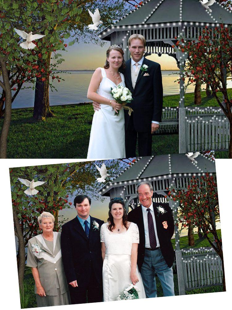 Fantasy photo portrait personalised wedding gift Evening Light