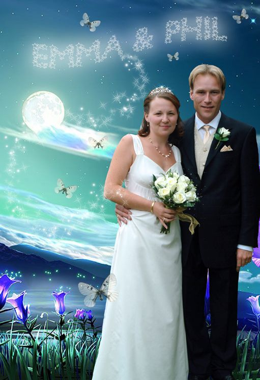 Fantasy photo portrait personalised wedding gift Moonlight