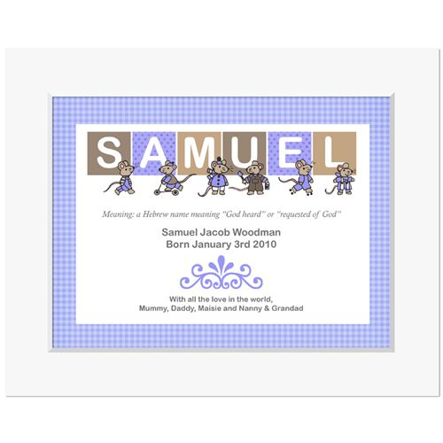 Mouse meaning of name personalised christening gift LS