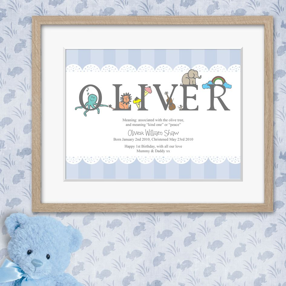 Meaning of name personalised christening gift