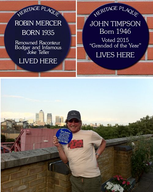 Personalised Blue Heritage Plaque door
